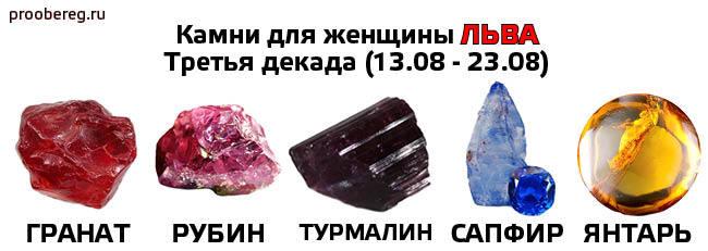 Какой камень подходит Львам женщинам и мужчинам